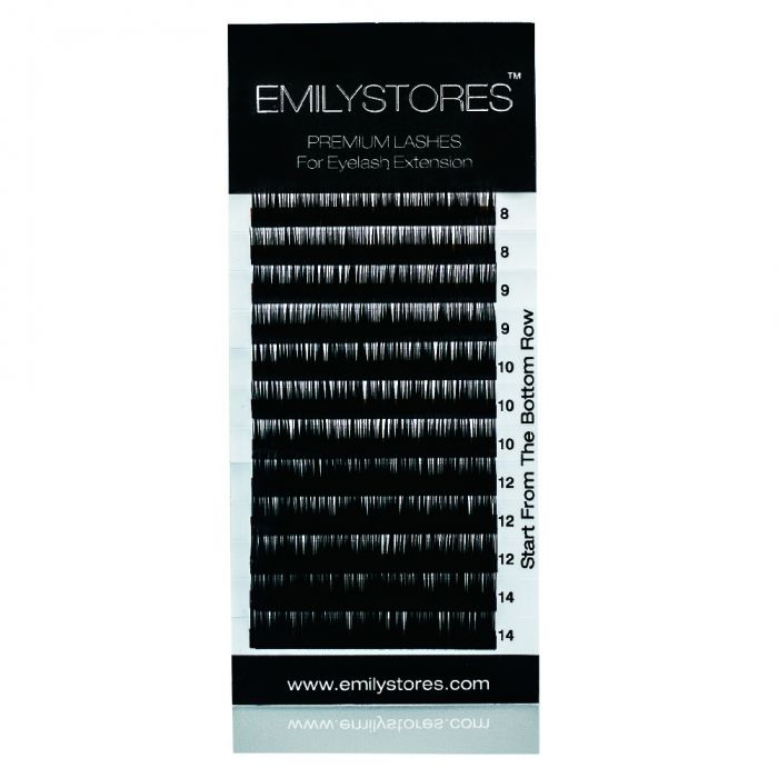 729916b93ef Thickness 0.15MM C Curl Length 8-14MM Mixed Sized In One Tray For Eyelash  Extensions