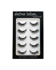 Natural Eyelashes 3D Faux-Mink Lashes Multipack 5Pairs, Natural