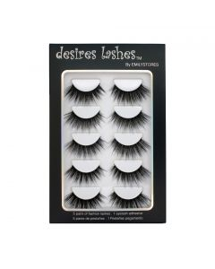 Natural Eyelashes 3D Faux-Mink Lashes Multipack 5Pairs, Sensual