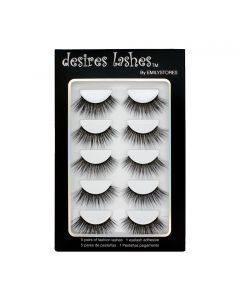 Natural Lashes 3D Layered Effect Fake-Mink Eyelashes Multipack 5Pairs, Glamorous