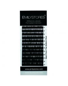 Flat Ellipse Thickness 0.15MM D Curl Length 8-14MM Mixed Sized In One Tray For Eyelash Extensions
