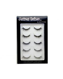 Multipack Demi Wispies Fake Eyelashes 5Pairs Per Kits, 01 Monday