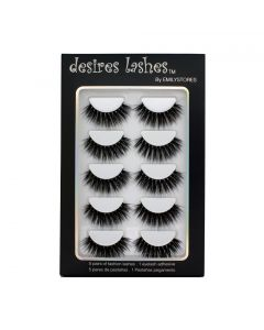 Natural Eyelashes 3D Faux-Mink Lashes Multipack 5Pairs, Texture