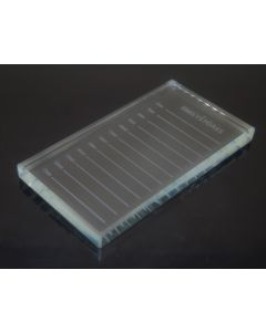 "Crystal Glass False Lashes Adhesive Glue Pallet Holder for Eyelash Extensions 4.5""X2.5""X0.4"" 1PC"