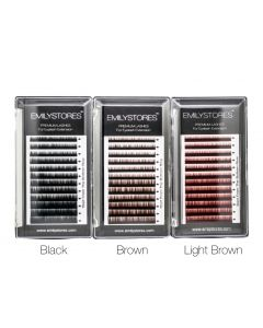 Eyebrow Extensions Color Black/ Brown/ Light Brown Thickness 0.10 mm Length 5/6/7/8MM Mixed Sizes One Tray