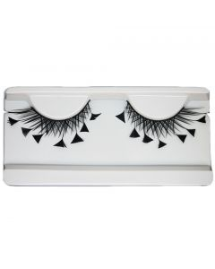 Black Feater Costume Lashes Halloween Eye Lashes For Party Looking1 Pairs
