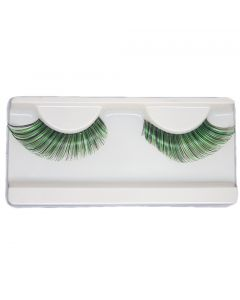 Green Fortune Teller Costume Halloween St. Patrick's Day Eye Lashes For Party Looking1 Pairs