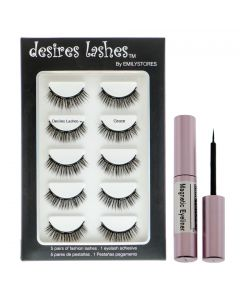Magnetic Eyelashes Natural Magnet Faux-Lashes Multipack Kit 5Pairs, Grace